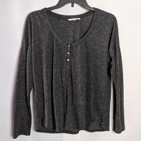 Victoria's Secret Tops - Victoria's Secret Henley Lightweight Gray Shirt S